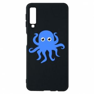 Phone case for Samsung A7 2018 Blue octopus - PrintSalon