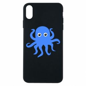 Phone case for iPhone Xs Max Blue octopus - PrintSalon