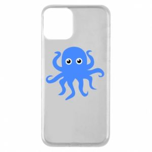 Phone case for iPhone 11 Blue octopus - PrintSalon