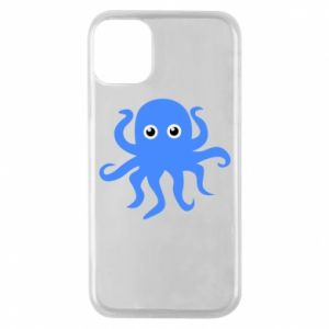 Phone case for iPhone 11 Pro Blue octopus - PrintSalon