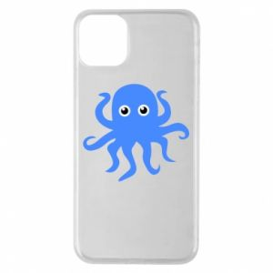 Phone case for iPhone 11 Pro Max Blue octopus - PrintSalon