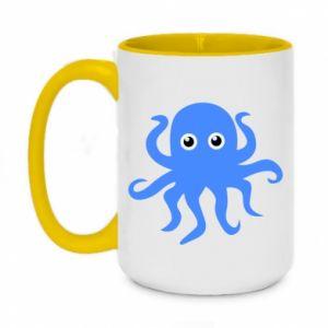 Kubek dwukolorowy 450ml Blue octopus