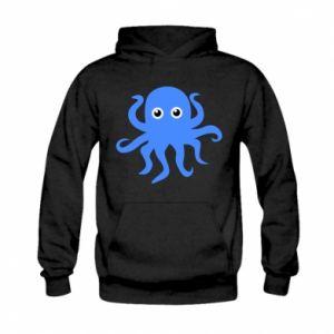 Bluza z kapturem dziecięca Blue octopus