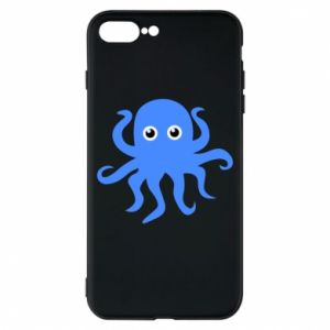 Phone case for iPhone 8 Plus Blue octopus - PrintSalon