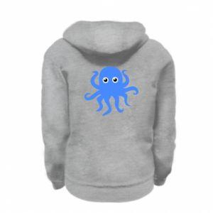 Bluza na zamek dziecięca Blue octopus