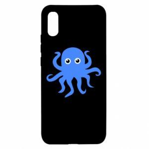 Etui na Xiaomi Redmi 9a Blue octopus