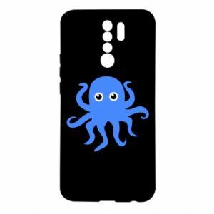 Etui na Xiaomi Redmi 9 Blue octopus