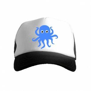 Czapka trucker dziecięca Blue octopus