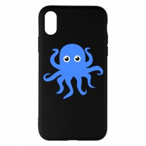 Phone case for iPhone X/Xs Blue octopus - PrintSalon