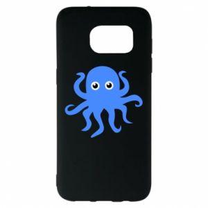 Etui na Samsung S7 EDGE Blue octopus