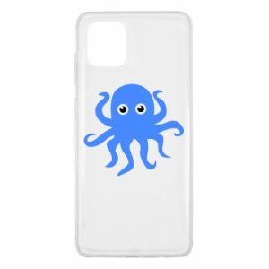 Etui na Samsung Note 10 Lite Blue octopus