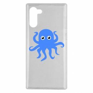 Etui na Samsung Note 10 Blue octopus