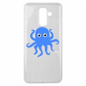 Etui na Samsung J8 2018 Blue octopus