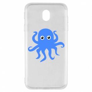 Etui na Samsung J7 2017 Blue octopus