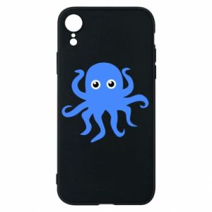 Phone case for iPhone XR Blue octopus - PrintSalon