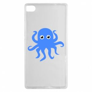 Etui na Huawei P8 Blue octopus