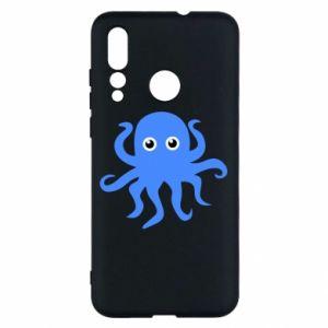 Etui na Huawei Nova 4 Blue octopus