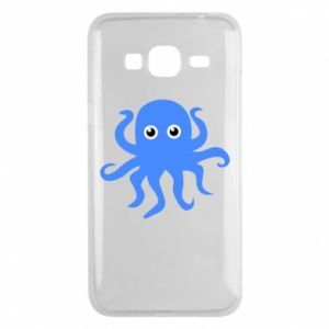 Phone case for Samsung J3 2016 Blue octopus - PrintSalon