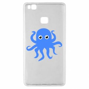 Etui na Huawei P9 Lite Blue octopus
