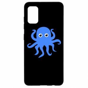 Etui na Samsung A41 Blue octopus