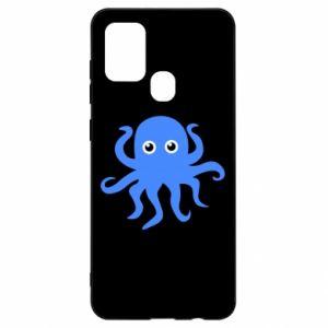 Etui na Samsung A21s Blue octopus