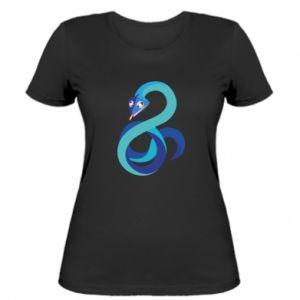 Women's t-shirt Blue snake