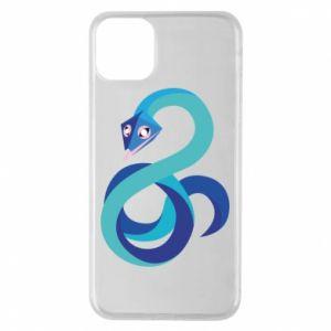 Etui na iPhone 11 Pro Max Blue snake