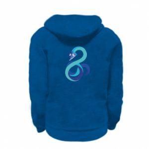 Bluza na zamek dziecięca Blue snake