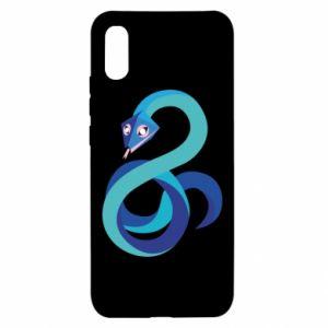 Etui na Xiaomi Redmi 9a Blue snake