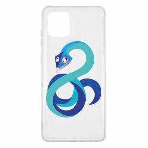 Etui na Samsung Note 10 Lite Blue snake