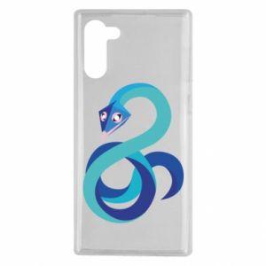 Etui na Samsung Note 10 Blue snake