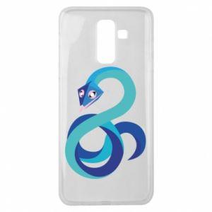 Etui na Samsung J8 2018 Blue snake