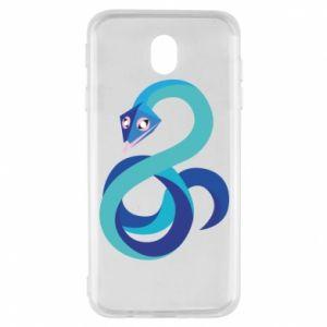 Etui na Samsung J7 2017 Blue snake