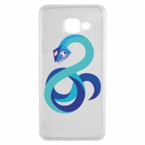 Etui na Samsung A3 2016 Blue snake