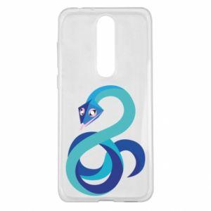 Etui na Nokia 5.1 Plus Blue snake
