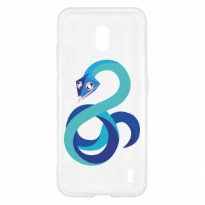 Etui na Nokia 2.2 Blue snake