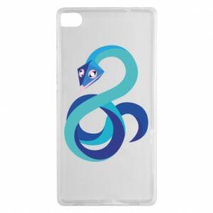 Etui na Huawei P8 Blue snake