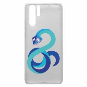 Etui na Huawei P30 Pro Blue snake