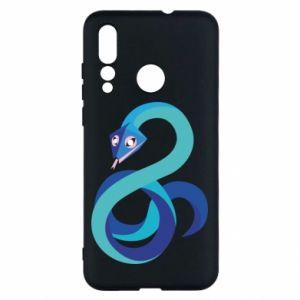 Etui na Huawei Nova 4 Blue snake