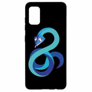 Etui na Samsung A41 Blue snake