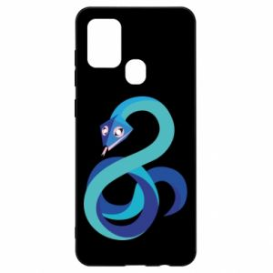 Etui na Samsung A21s Blue snake