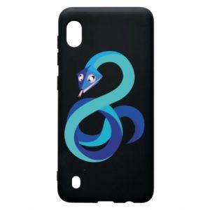 Etui na Samsung A10 Blue snake