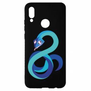 Etui na Huawei P Smart 2019 Blue snake