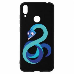 Etui na Huawei Y7 2019 Blue snake