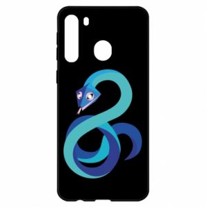 Etui na Samsung A21 Blue snake