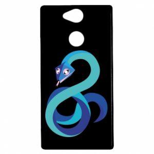 Etui na Sony Xperia XA2 Blue snake