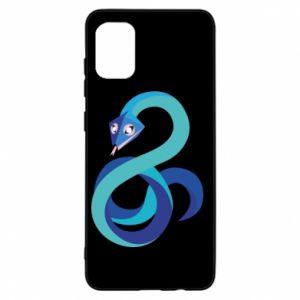 Etui na Samsung A31 Blue snake