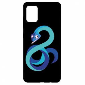 Etui na Samsung A51 Blue snake