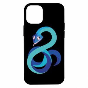 Etui na iPhone 12 Mini Blue snake