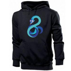 Men's hoodie Blue snake